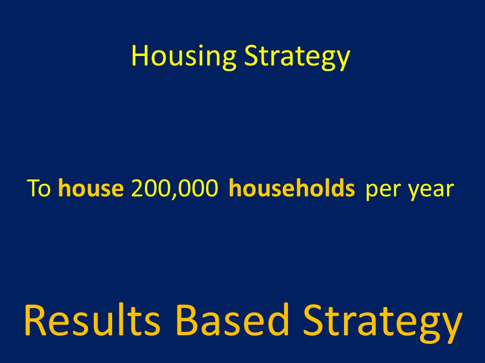 Results Based Strategy