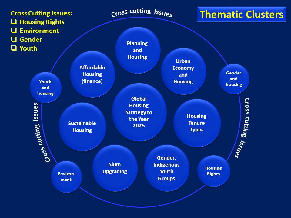 Thematic Clusters cutting Cross Cutting issues: Housing Rights