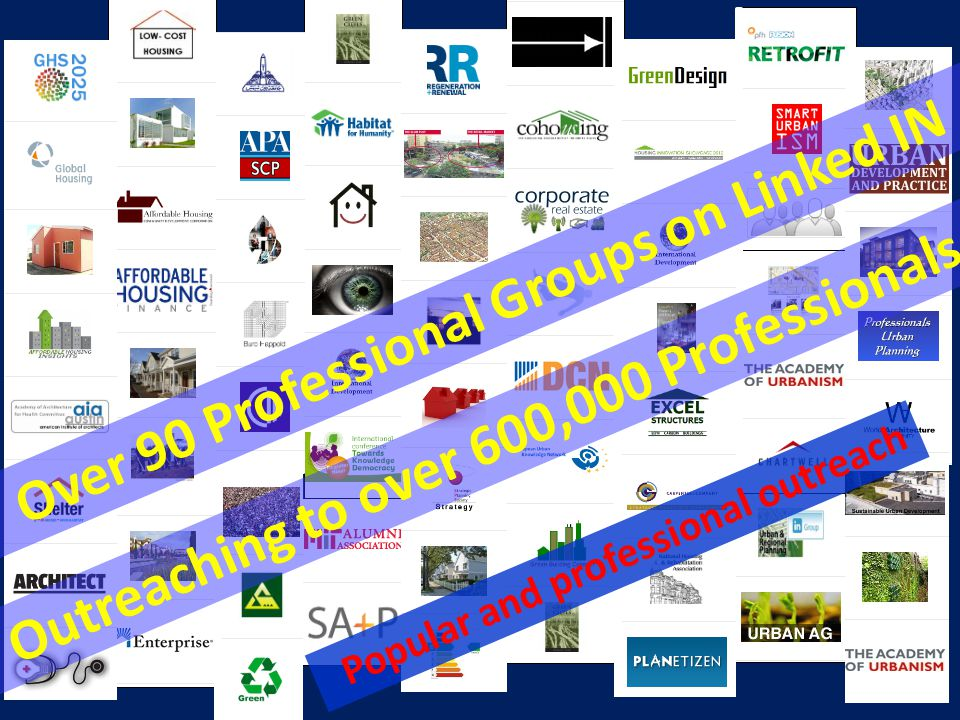 Over 90 Professional Groups on Linked IN
