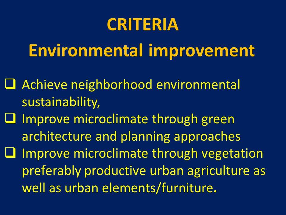 Environmental improvement