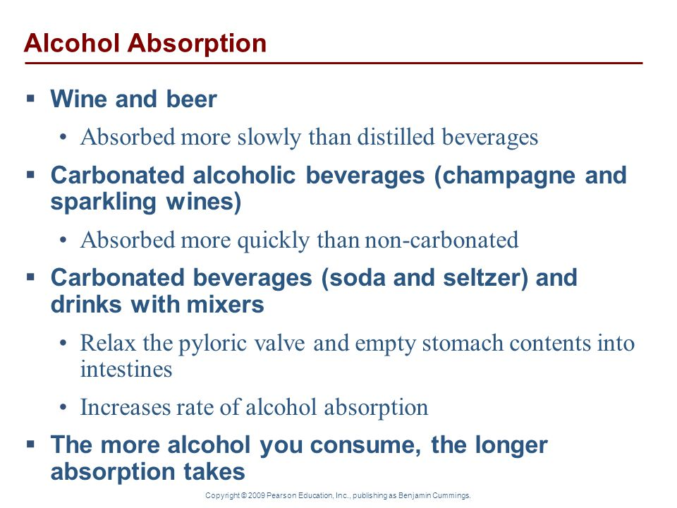 Alcohol Absorption Wine and beer
