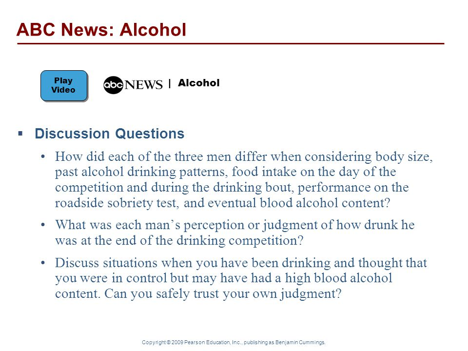 ABC News: Alcohol Discussion Questions