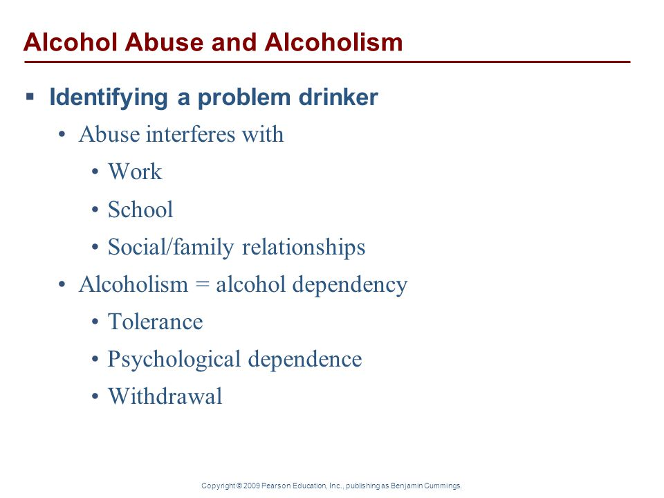 Alcohol Abuse and Alcoholism