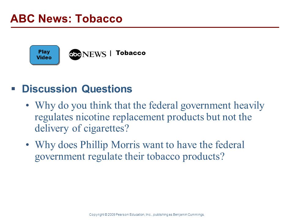 ABC News: Tobacco Discussion Questions