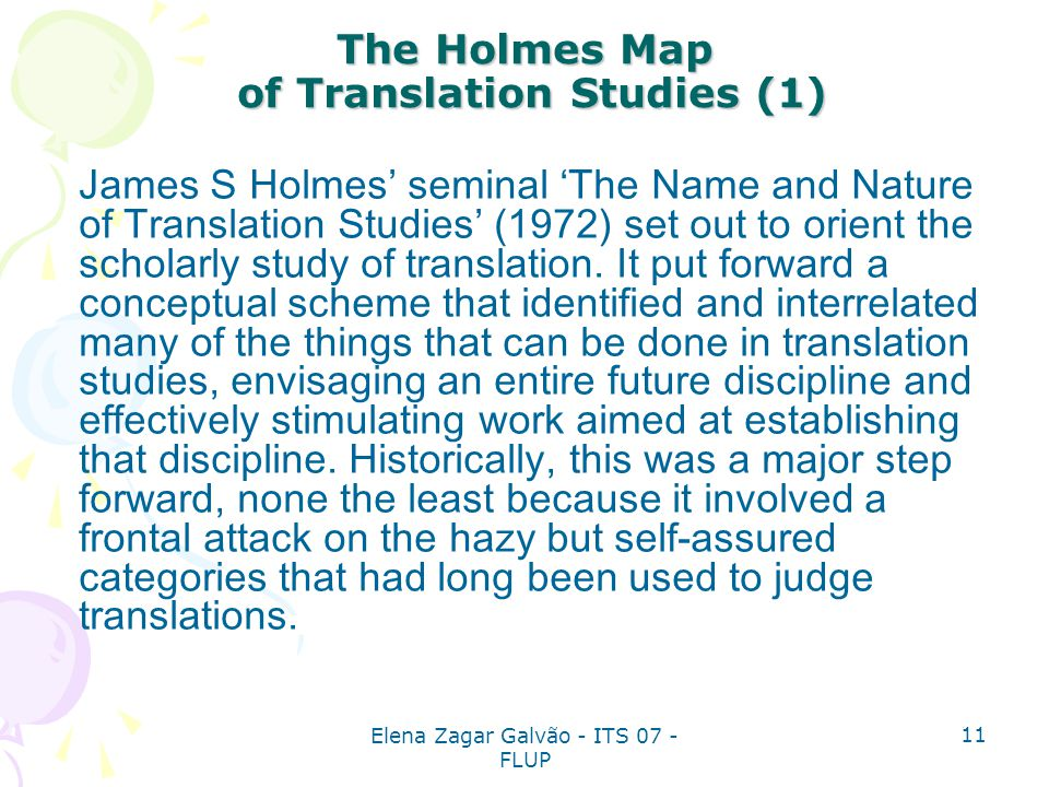 The Holmes Map of Translation Studies (1)