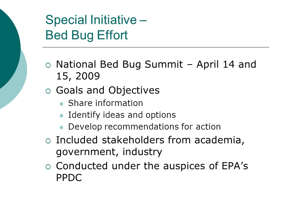 Special Initiative – Bed Bug Effort