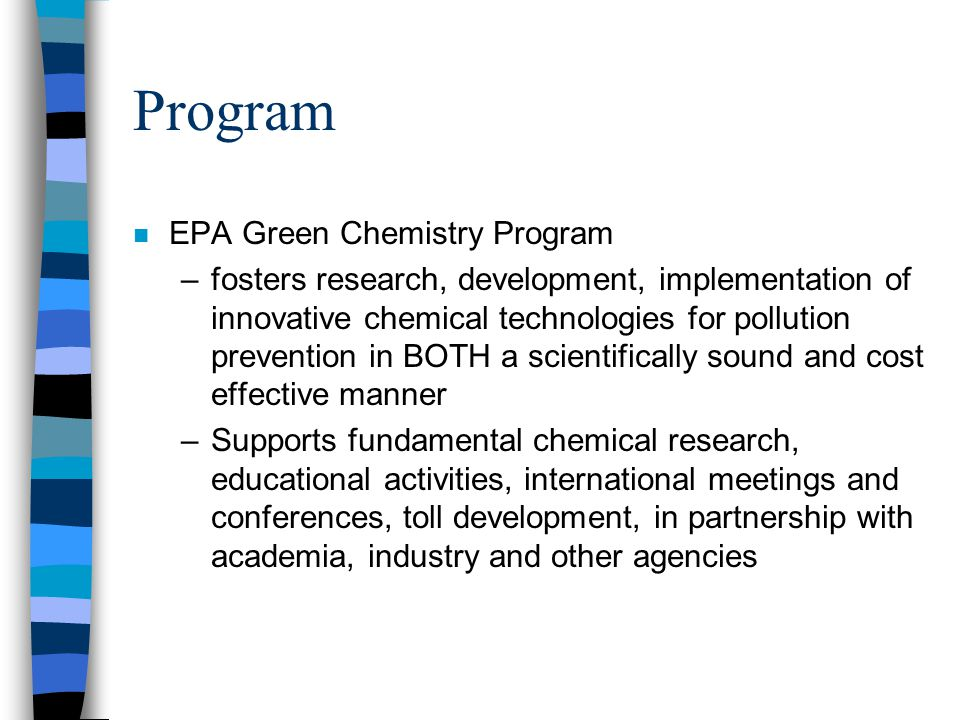 Program EPA Green Chemistry Program
