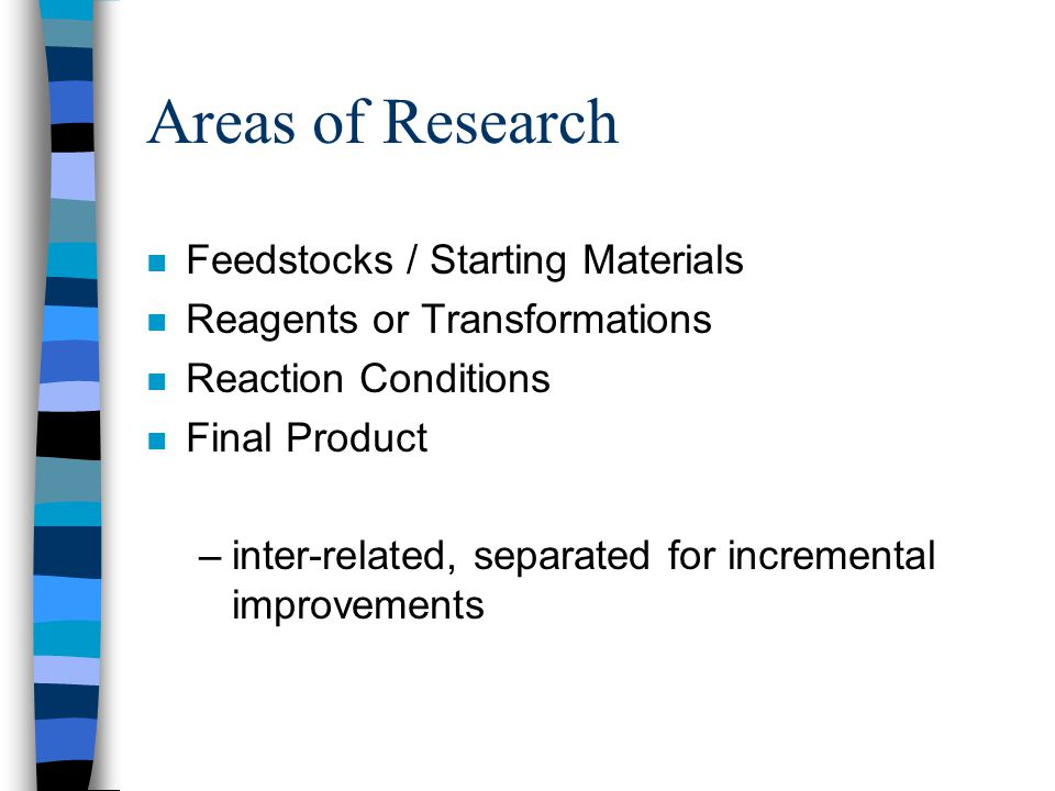 Areas of Research Feedstocks / Starting Materials