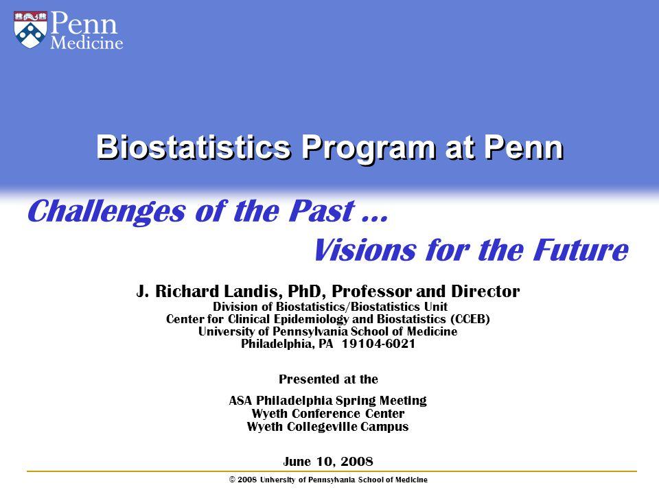 Biostatistics Program at Penn
