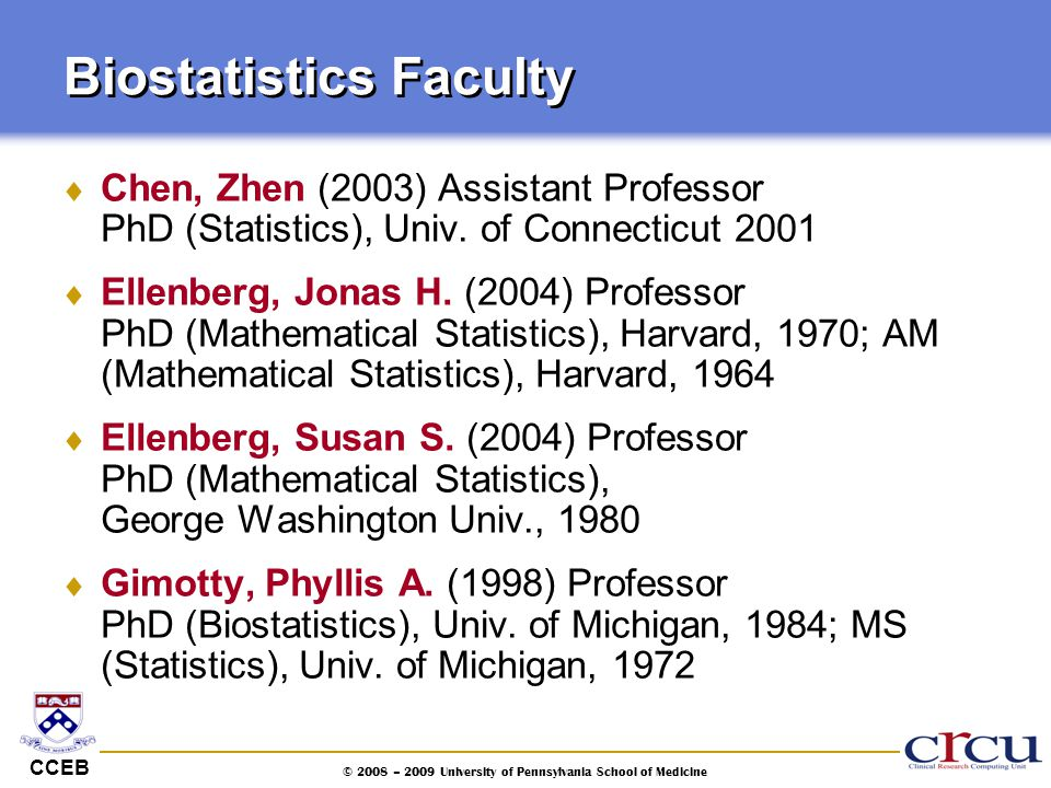 Biostatistics Faculty