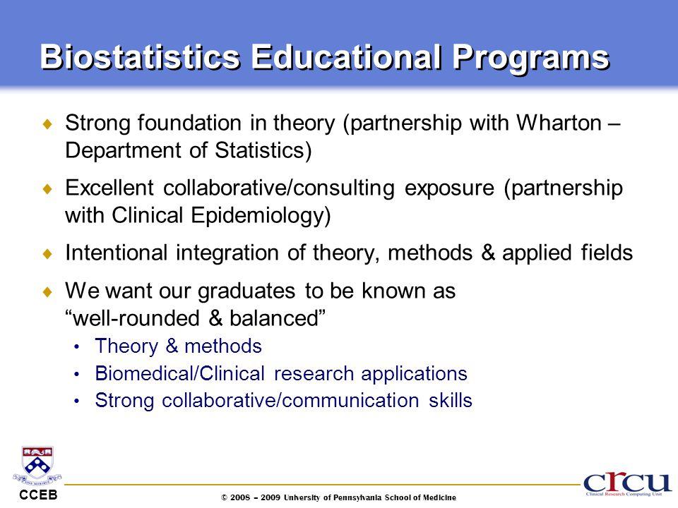 Biostatistics Educational Programs