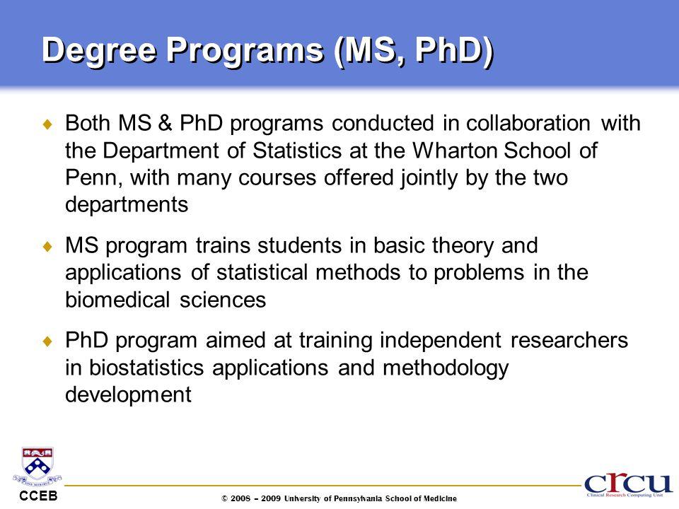 Degree Programs (MS, PhD)