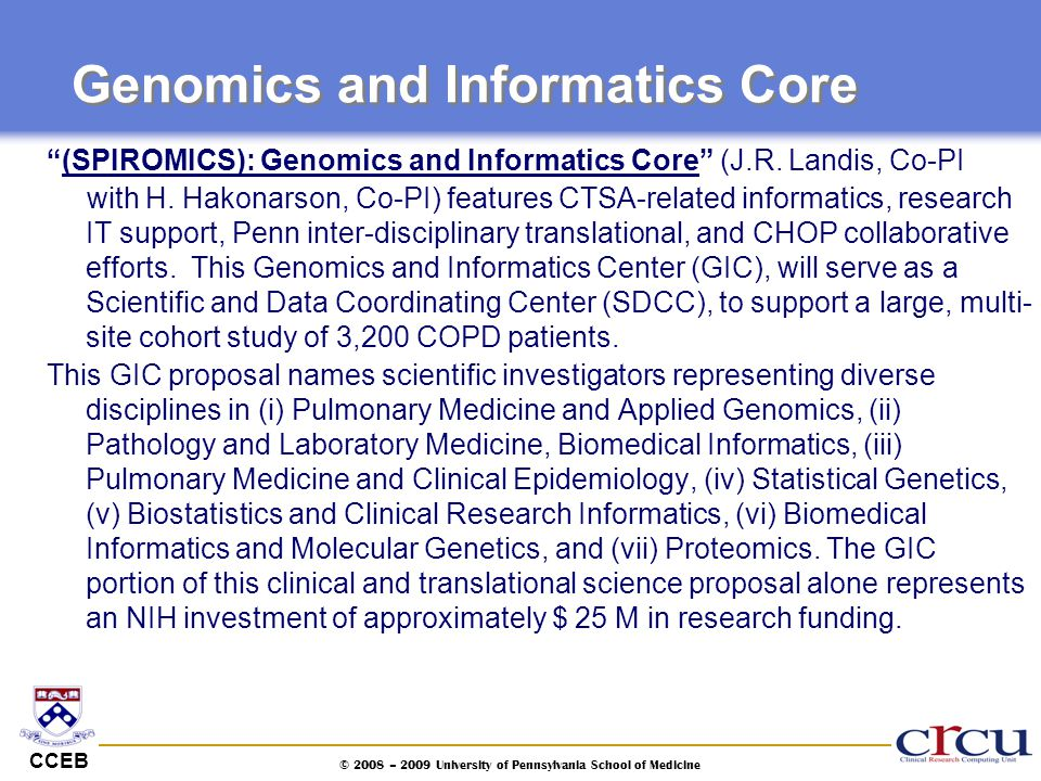 Genomics and Informatics Core