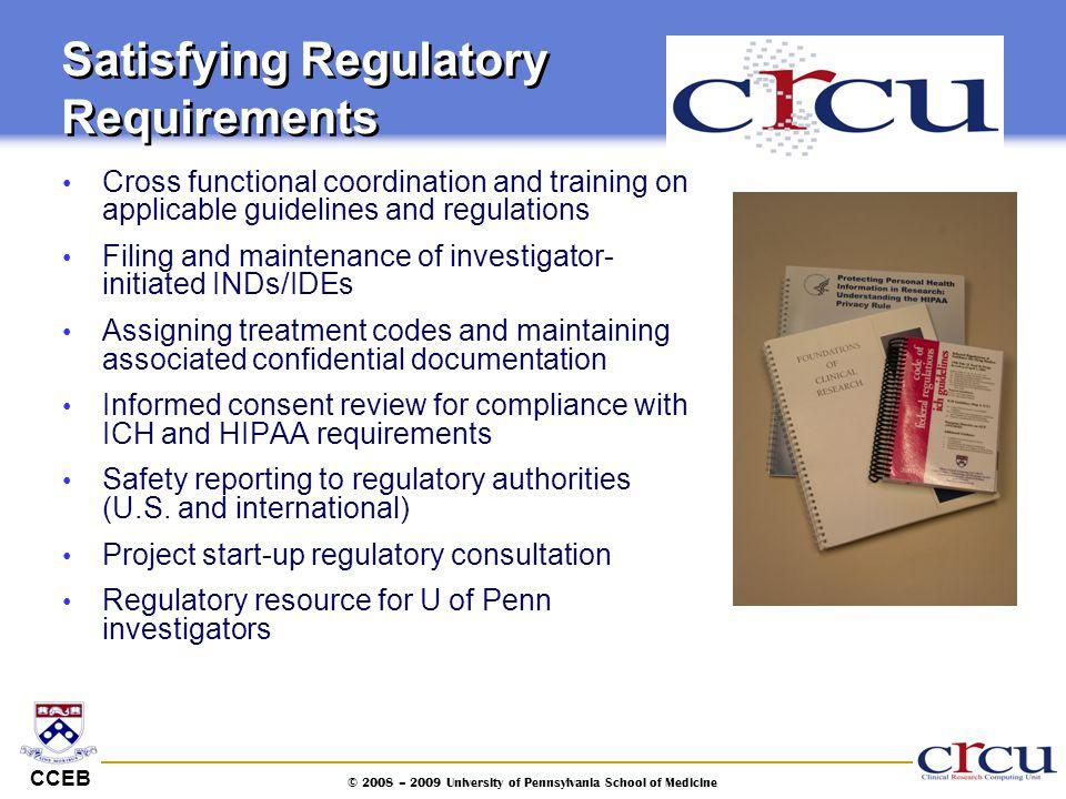 Satisfying Regulatory Requirements