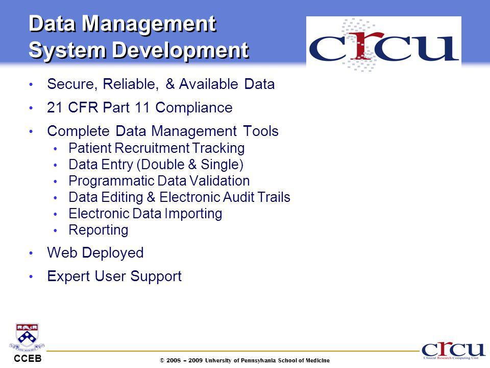 Data Management System Development