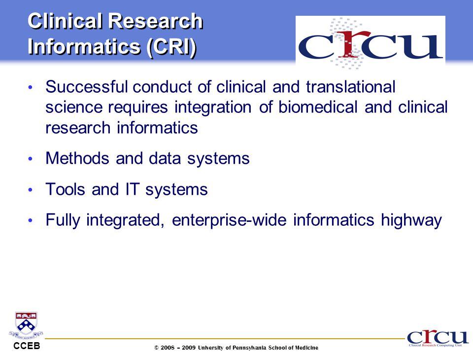 Clinical Research Informatics (CRI)
