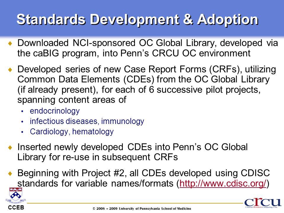 Standards Development & Adoption