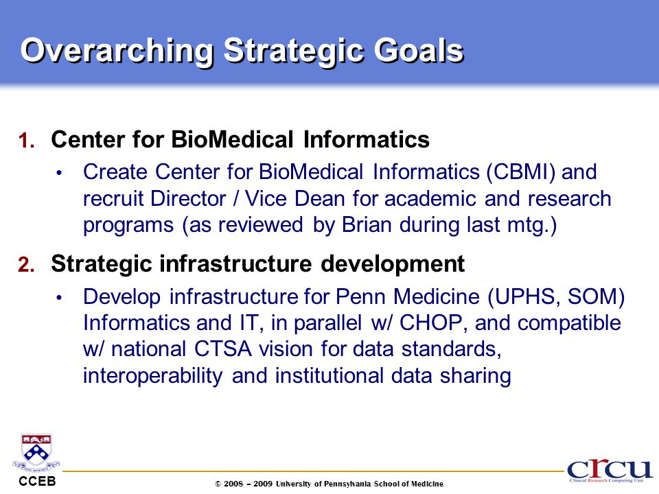 Overarching Strategic Goals