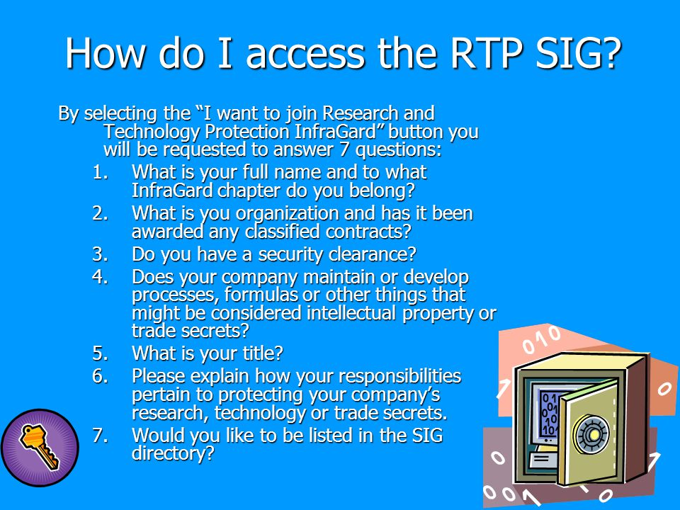 How do I access the RTP SIG