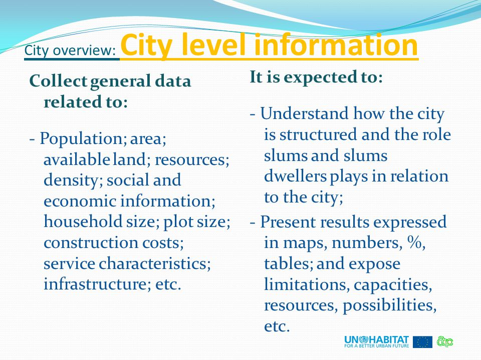 City overview: City level information