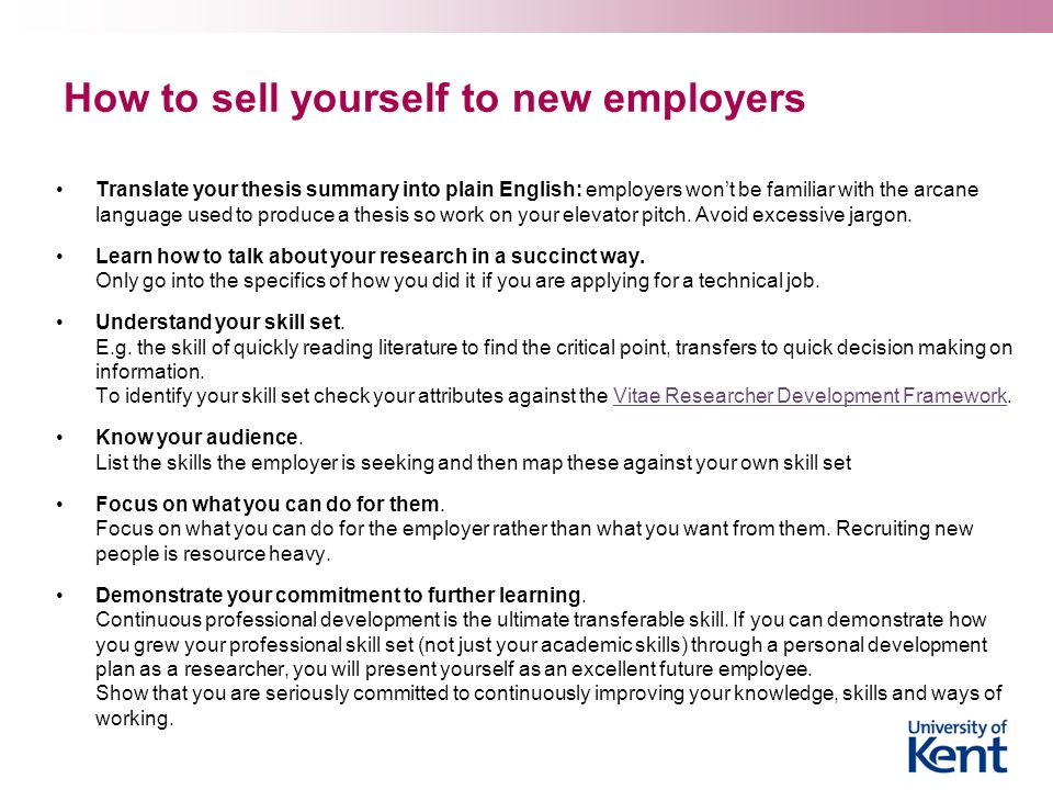 How to sell yourself to new employers
