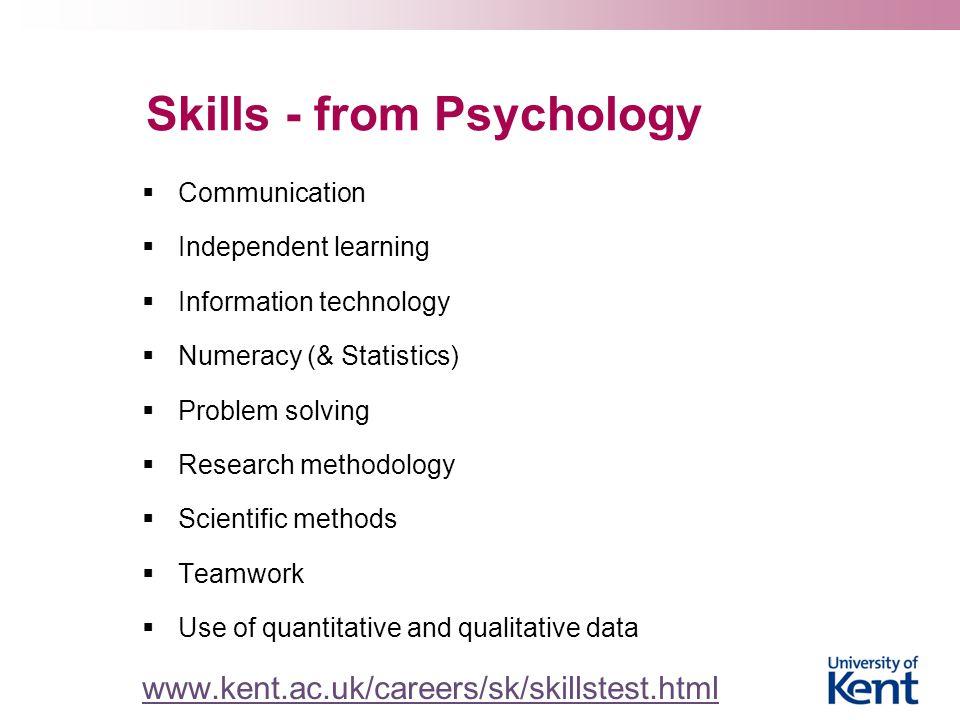 Skills - from Psychology