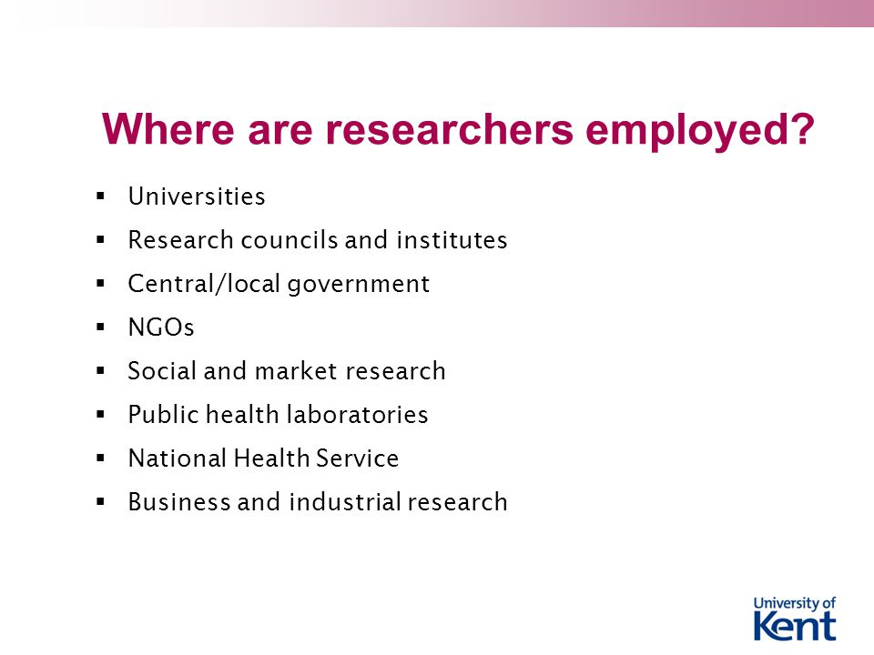 Where are researchers employed
