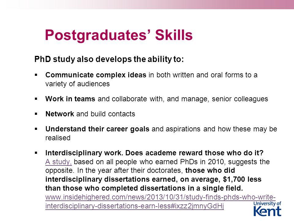Postgraduates' Skills
