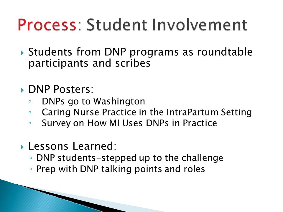Process: Student Involvement