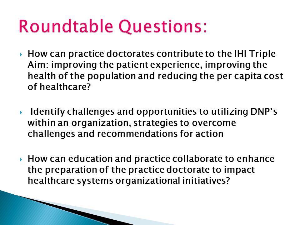 Roundtable Questions: