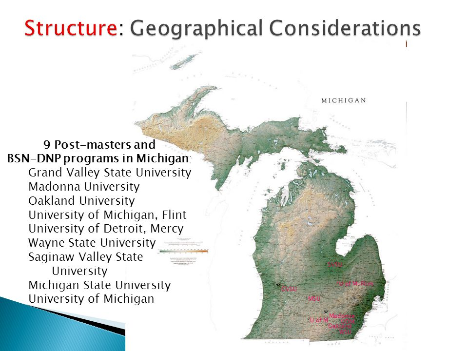 Structure: Geographical Considerations