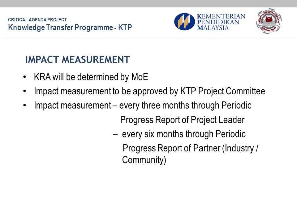 KRA will be determined by MoE