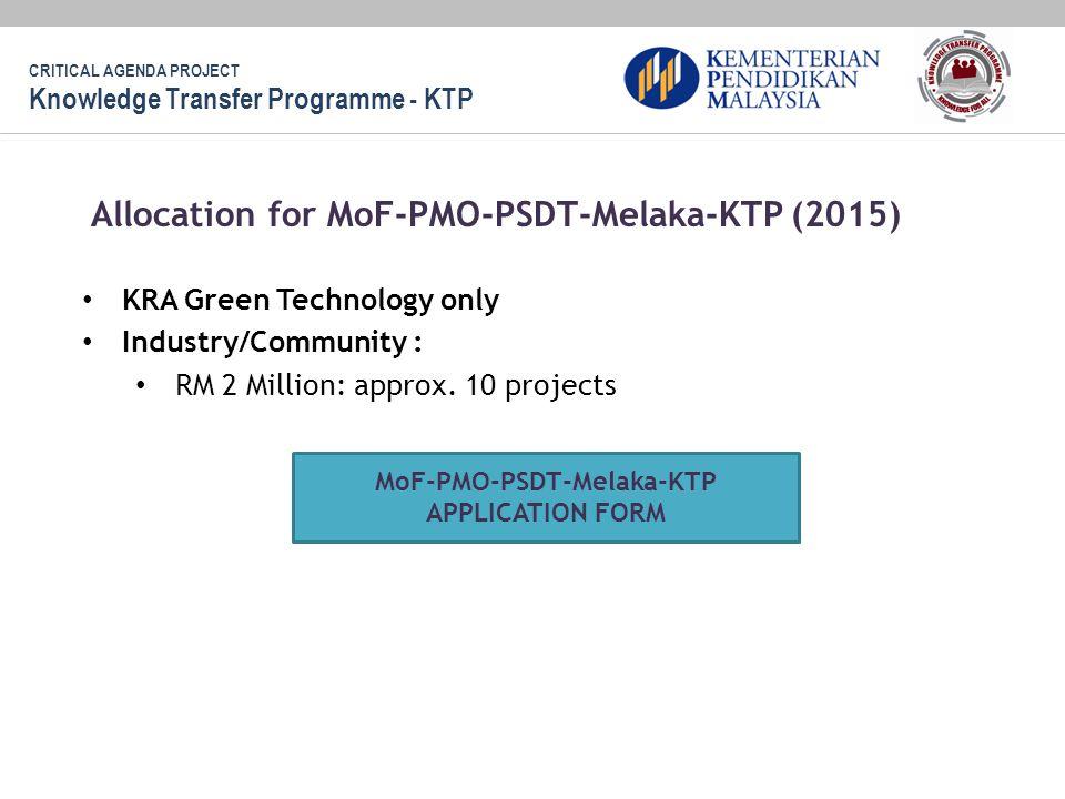 MoF-PMO-PSDT-Melaka-KTP APPLICATION FORM