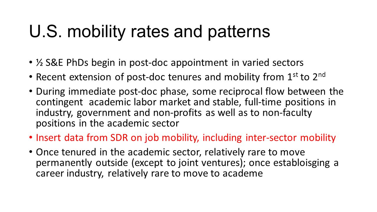 U.S. mobility rates and patterns