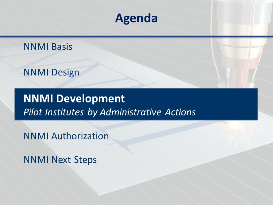 Agenda NNMI Development NNMI Basis NNMI Design