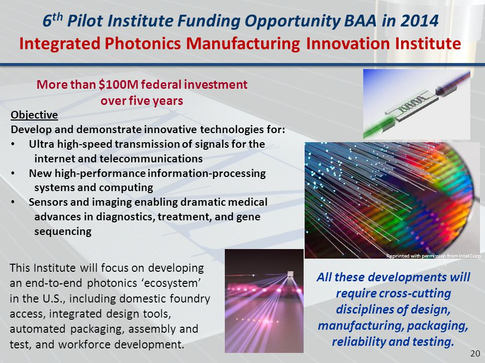 6th Pilot Institute Funding Opportunity BAA in 2014