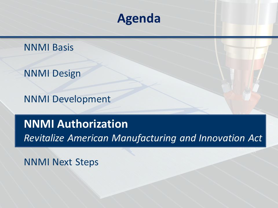 Agenda NNMI Authorization NNMI Basis NNMI Design NNMI Development