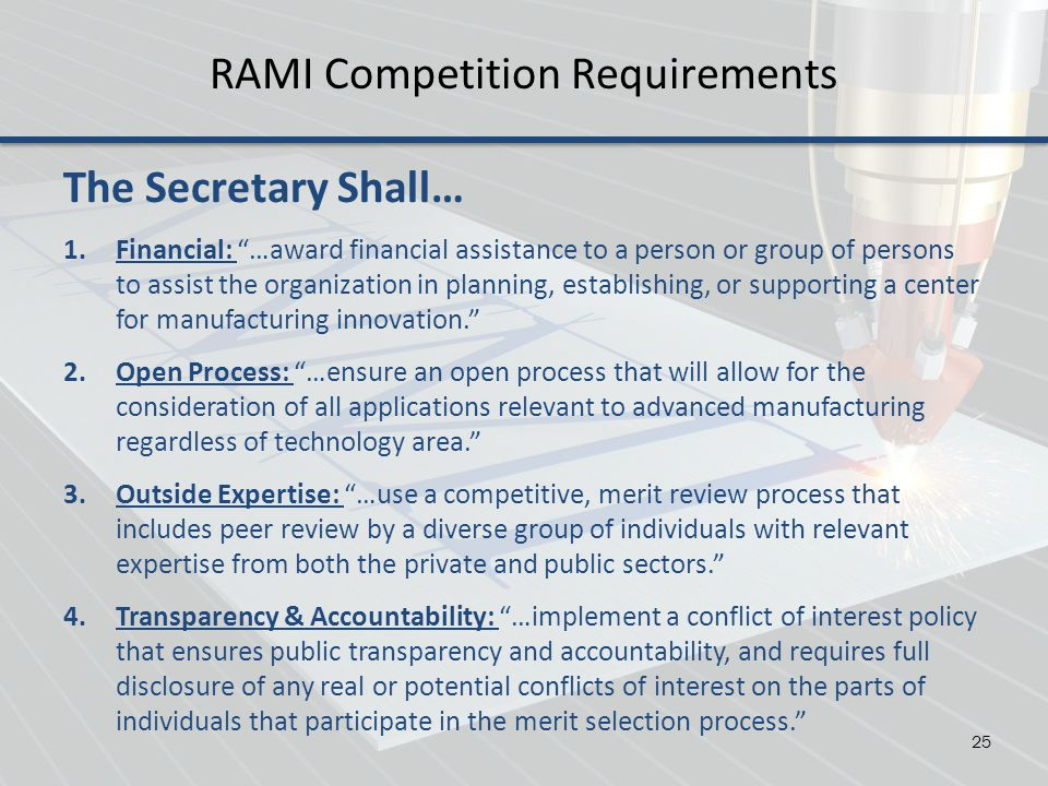 RAMI Competition Requirements