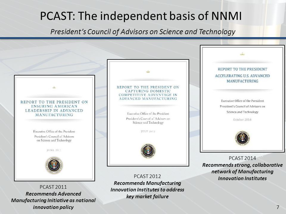 PCAST: The independent basis of NNMI