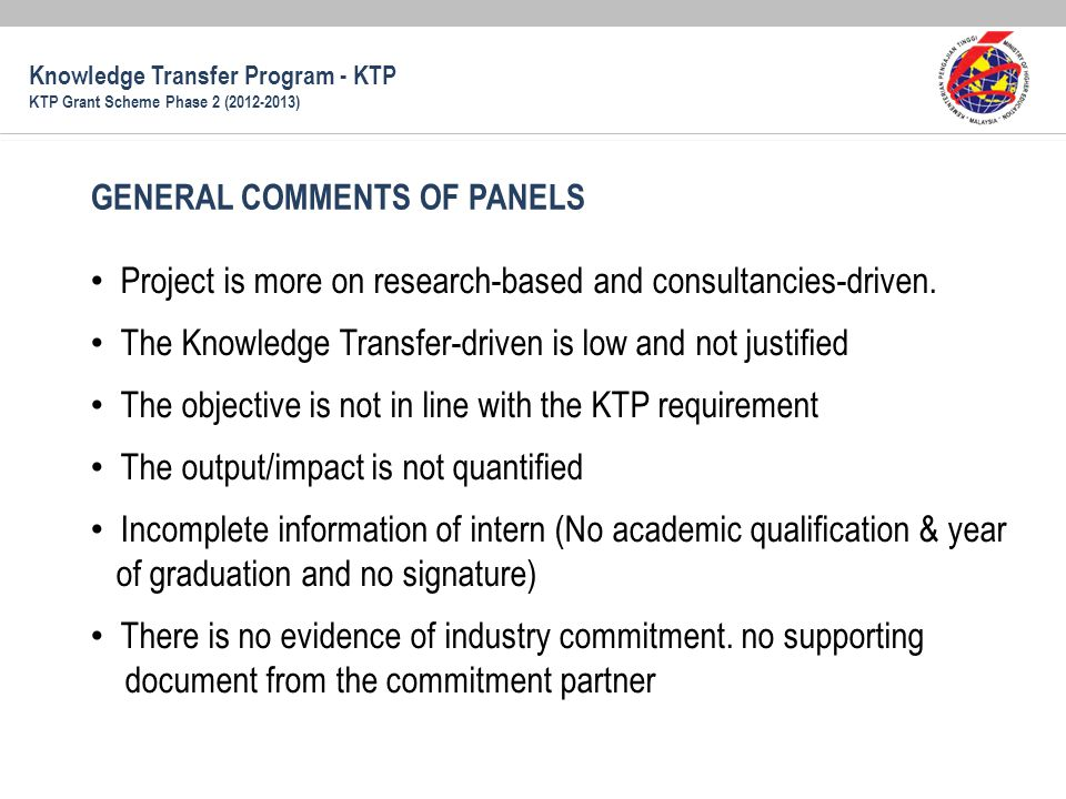 Project is more on research-based and consultancies-driven.