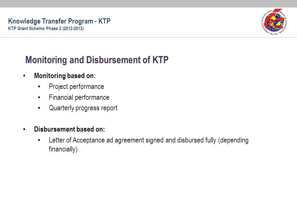 Monitoring and Disbursement of KTP