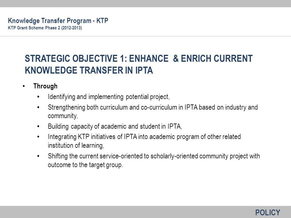 Knowledge Transfer Program - KTP