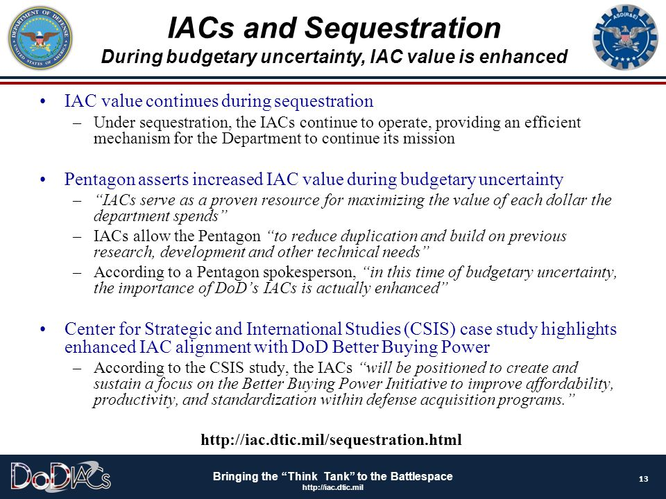 IACs and Sequestration