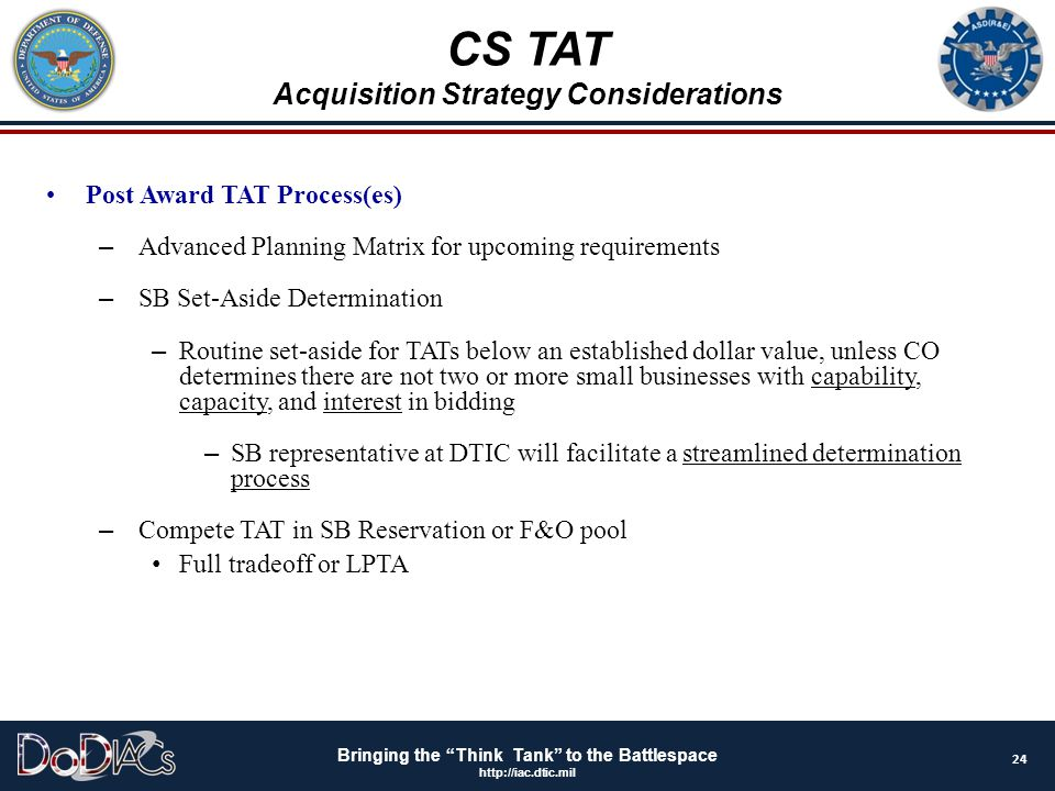Acquisition Strategy Considerations