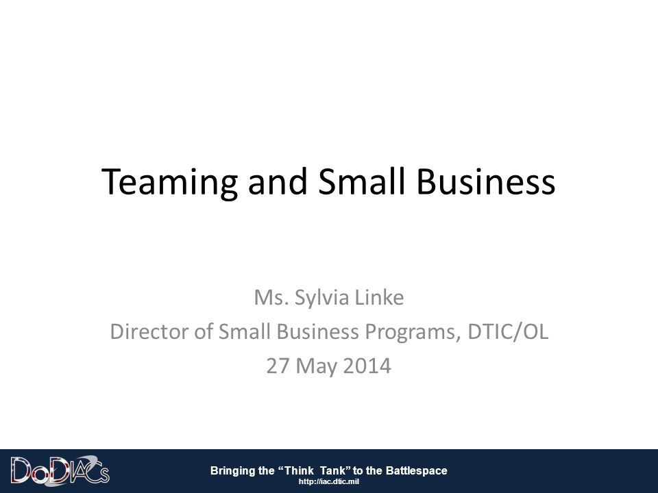 Teaming and Small Business