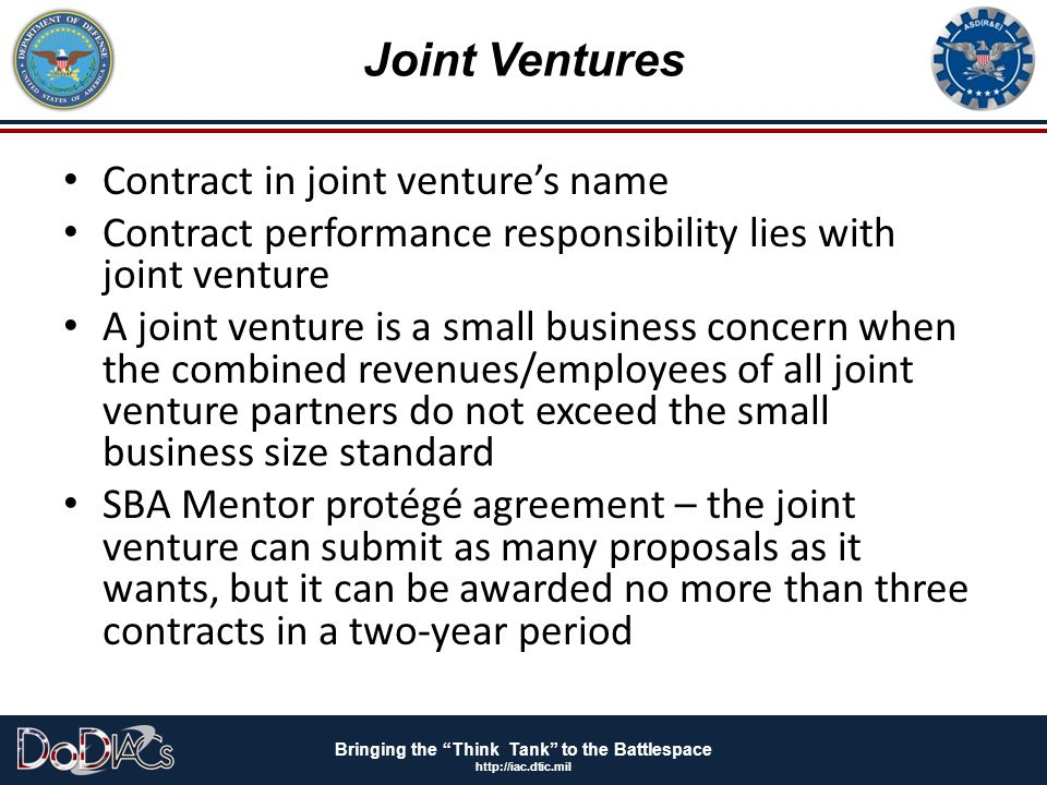 Joint Ventures Contract in joint venture's name