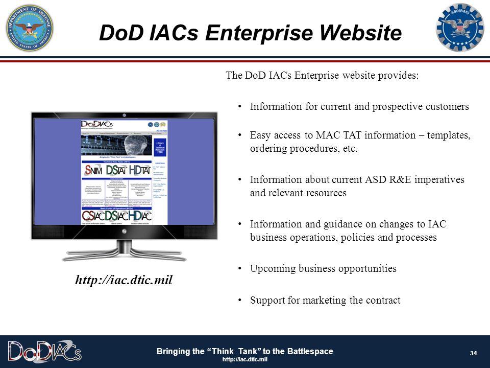 DoD IACs Enterprise Website