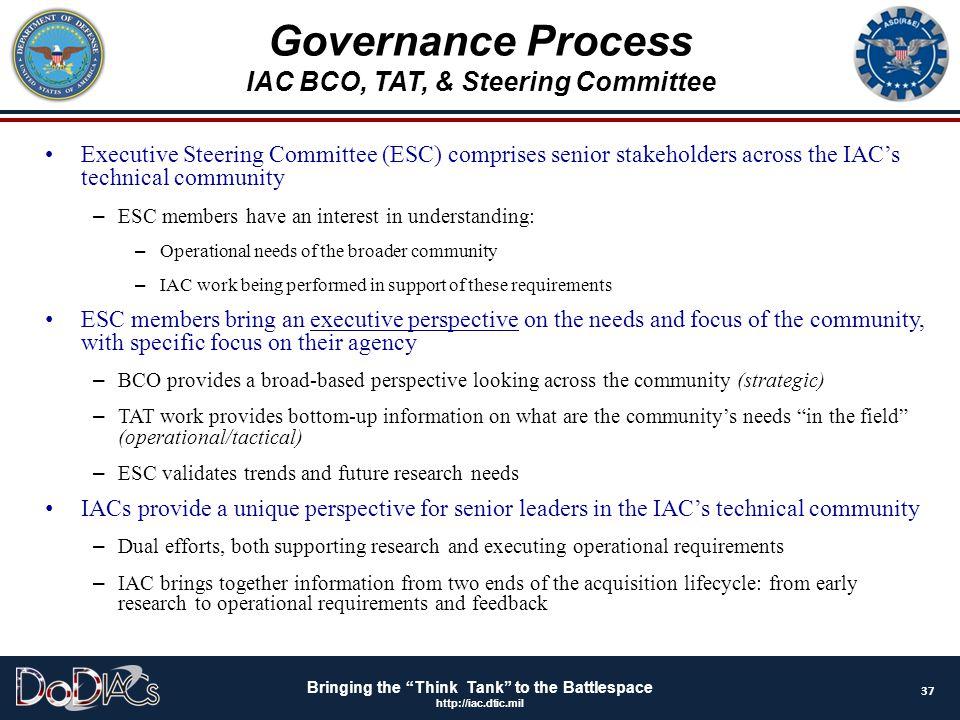 IAC BCO, TAT, & Steering Committee