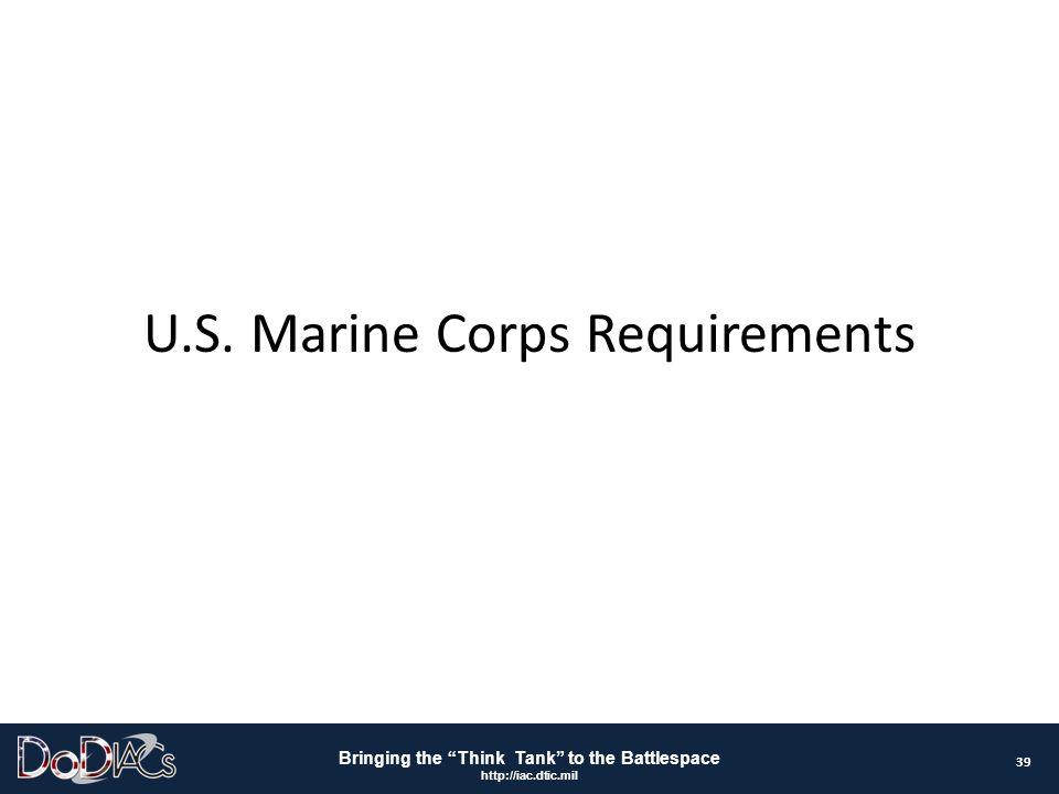 U.S. Marine Corps Requirements