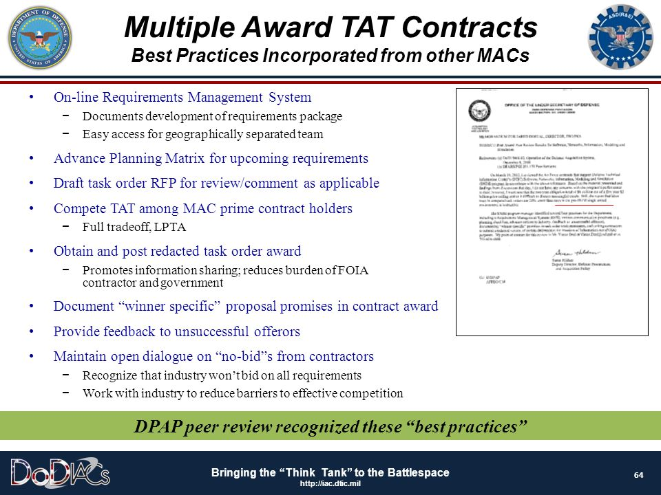 Multiple Award TAT Contracts
